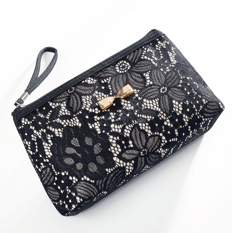Embroidery Travel Toiletry Bag Portable Women Make Up Bags