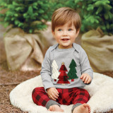 Christmas Costumes Fashion Christmas Tree Applique Children Boy Suits