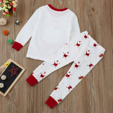 Toddler Boy Girl Christmas Clothes Santa Claus Print Children Outfits Set