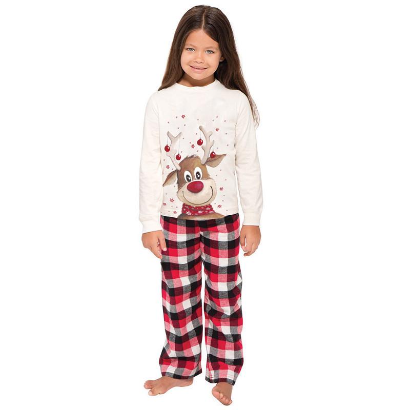 parent-child wear, parent-child clothing, letter sweatshirt, Christmas costume