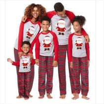 Christmas Parent-Child Wear Santa Claus Print Family Matching Outfit