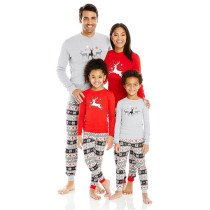 Christmas Parent-Child Wear Elk Print Home Pajamas Two-Piece