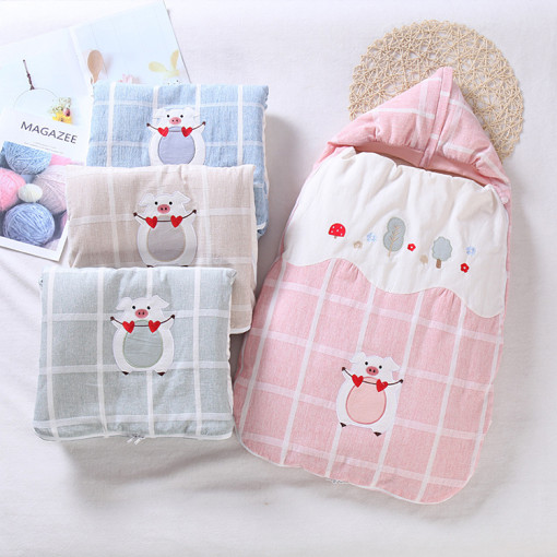 Anti-Shock Baby Sleeping Bag Cotton Cartoon Newborn Anti-Kick Quilt