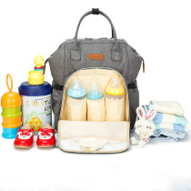 Solid Color Mummy Backpack Multi-Function Diaper Bag