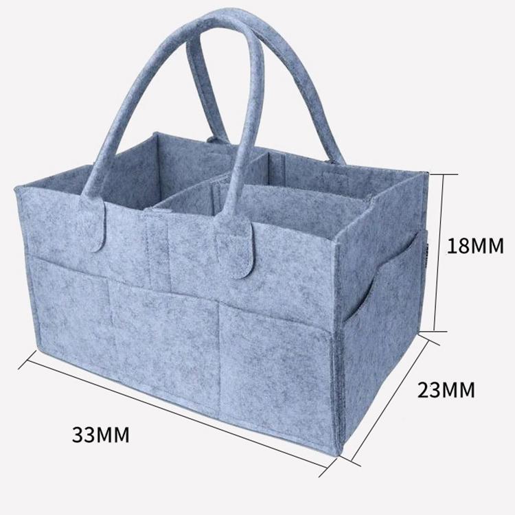 Fashion Felt Portable Baby Diaper Caddy Folding Disassembly Diaper Storage Bag