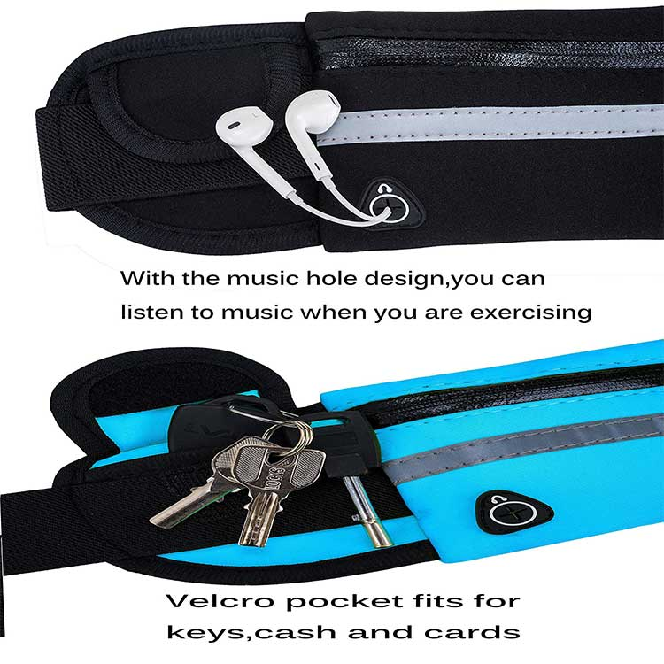 Outdoor Sports Waist Pack Fitness Running Waist Bag With Bottle Cages