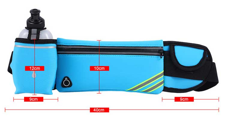 Running Pockets Yoga Ultra-Thin Close-Fitting Kettle Trough Waterproof Waist Bags