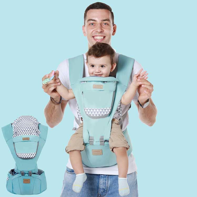 Multifunctional Ergonomic Baby Carrier Breathable Hip Seat Mesh Cloth Baby Waist Stool