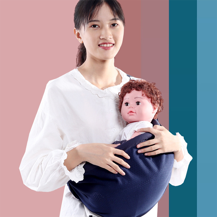 Single Shoulder Baby Sling Pure Color Newborn Horizontal Baby Carrier