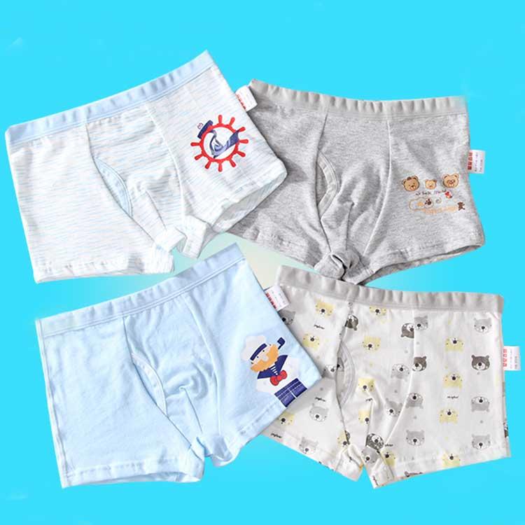 Cheap Cartoon Printing Boys Underwear Cotton 4 Pack Kids Boxer Brief