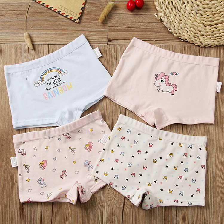 girls boxer briefs, cotton girls panties, girls underwear