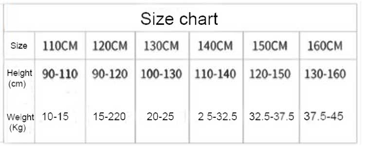 girls panties size chart