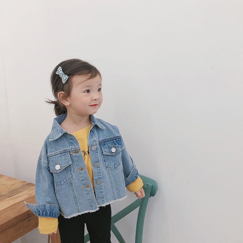 High Quality Autumn Kids Clothing Winter Kids Denim Coats Little Girls Jacket