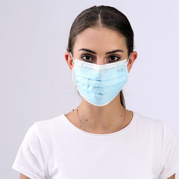 50 pcs safe disposable mask antivirus health protective masks 3 ply non woven face mask