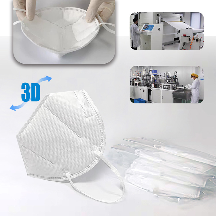 10pcs pack white KN95 masks 5 ply KN95 protective face mask