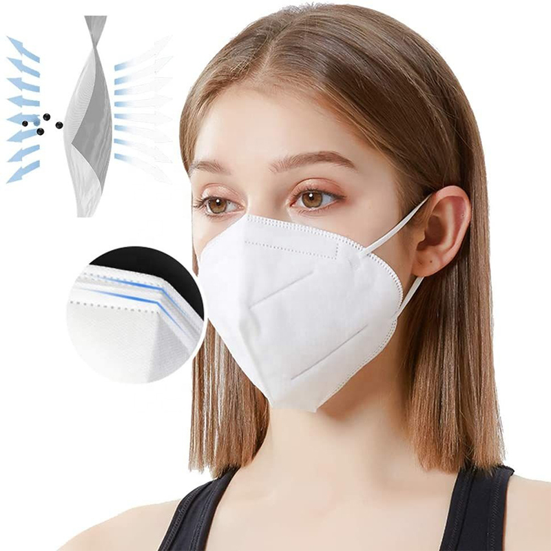 White KN95 masks 5 ply daily protective KN95 face mask