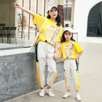 Parent-Child Wear New Summer Casual Tracksuit Family Matching Clothes Two-Piece Fashion Mother-Daughter Outfits