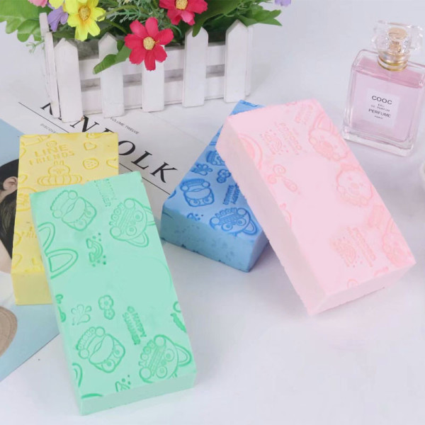 Most popular pva bathing sponge painless children cartoon bathing sponge  for children care