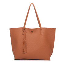 New Fashion Fringed Women Single Shoulder Bag PU Large Capacity Handbag