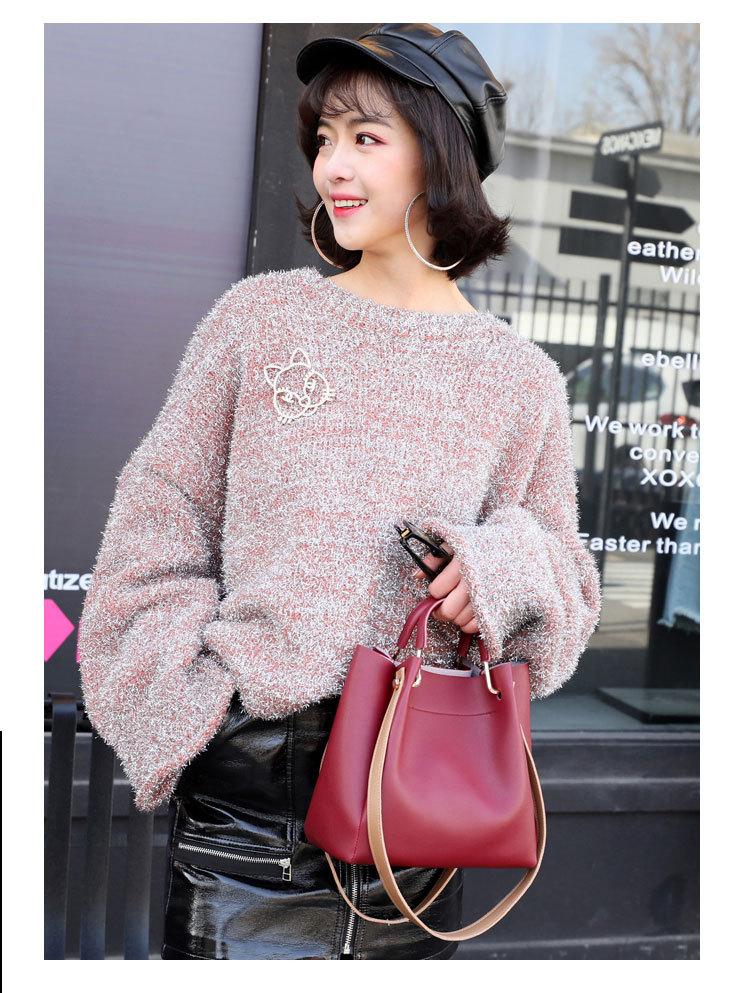Trendy  PU Women Handbag Simple Versatile Ladies Hand Bag Shoulder Bag
