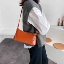 New Fashion PU Ladies Handbag Simple Versatile Women Baguettes Bag Solid Color Shoulder Armpit Women Bag