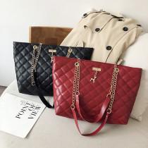 Autumn New Diamond Shoulder Bag Women Handbag Chain Hand Bag Large Capacity Shoulder Bag