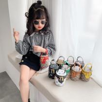 New Fashion Printing Chain Bag Mini All-Match Messenger Bag Princess Handbag Girl Bucket Bag