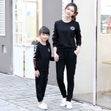 New parent-child wear autumn clothes two-piece sweatshirt set mother and daughter family matching clothing sets