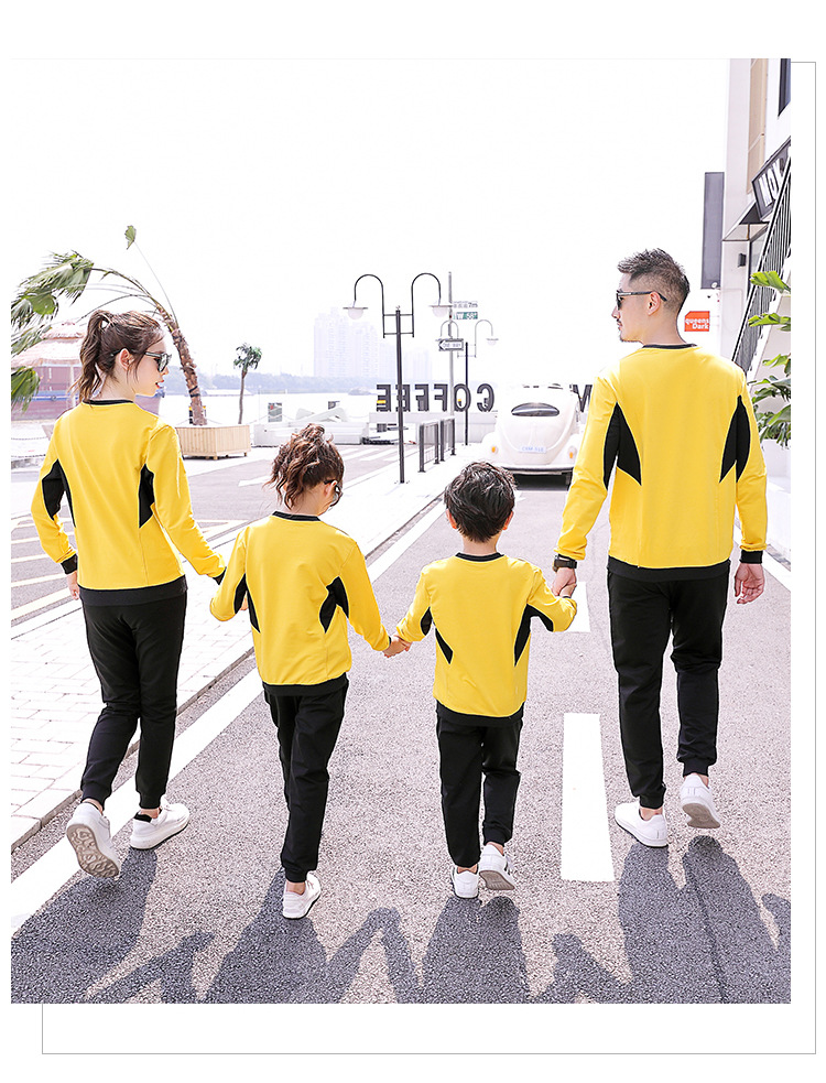 New autumn parent-child wear trendy sportwear suits mommy and me family matching outfit tracksuit set