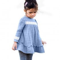 Most popular long sleeve child girl dress casual autumn girls frock