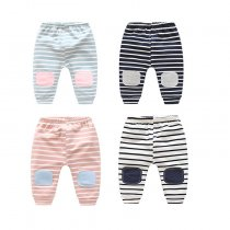New cotton toddlers clothing trousers stripe baby harem pants