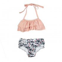 Summer children girls swimsuit floral kids swimwear