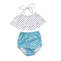 New style kids swimsuit  two-piece girls swimwear