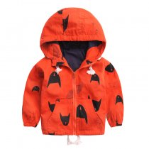 Fashion Printed Kid Jacket Windbreaker Hooded Jacket For Children