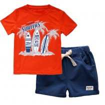 Hot Sale Trendy Little Boys Clothing Sets Summer Children Clothes