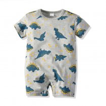 Short Sleeve Dinosaur Printed Newborn Baby Wear Clothes Romper From China