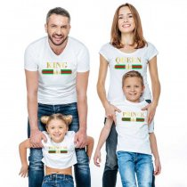 Family Matching T-Shirt Summer Printed Parent-Child Wear