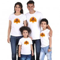 Parent-Child Wear Thanksgiving Turkey Printed Short Sleeve T-Shirt