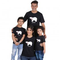 Summer parent-child wear short sleeve printed t-shirt
