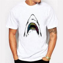 Custom Logo Printing Tee White Short Sleeve Casual Men T-Shirt