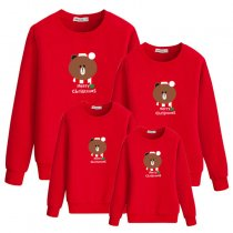 Parent-Child Wear Christmas Bear Long Sleeve Sweatshirt