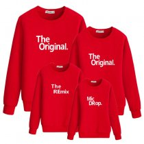 Letter Printed Long Sleeve Parent-Child Sweatshirt Family Wear