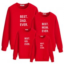 Parent-Child Wear Letter Printed Sweatshirt Family Wear
