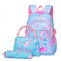 New Style Kids Backpack 3 Pcs Set Nylon School Bags For Girls