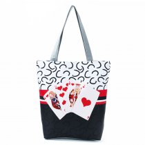 Cheap Women Handbags Poker Printing Shoulder Bag