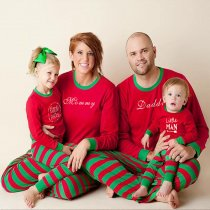 Christmas Family Matching Outfits Letter Print Christmas Style Parent-Child Wear