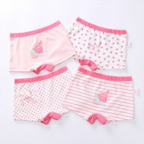 Kids Underwear Cotton Children Boxer Briefs Cartoon Girls Panties
