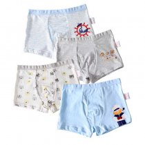 Cheap Cartoon Printing Boys Underwear Cotton 4 Pack Kids Boxer Brief