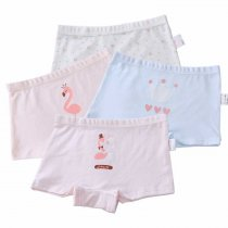 New Kids Underwear Cotton Children Panties Cartoon Flamingo Print Little Girls Boxer Briefs