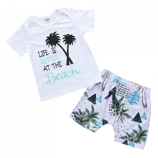 Hot Selling Summer Baby Clothes Casual Infant Clothing Sets